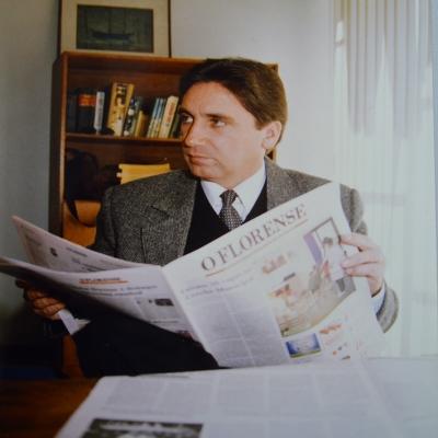 Em junho de 1996, o então deputado federal Germano Rigotto esteve em Flores da Cunha e Nova Pádua mantendo contatos partidários. Na data, o deputado também esteve visitando a sede do Jornal O Florense.
