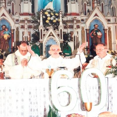 No dia 3 de agosto de 1997, Frei Aloíso Pérsici comemorou seus 85 anos de vida e 60 de sacerdócio com missa festiva na Igreja Matriz e almoço no salão paroquial. A celebração da missa foi feita ao lado dos bispos D. Paulo Moretto e D. Osório Beber, além de mais 30 sacerdotes.