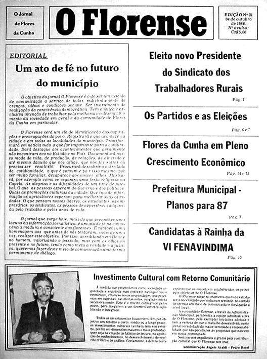 Outubro de 1986: a primeira edição.