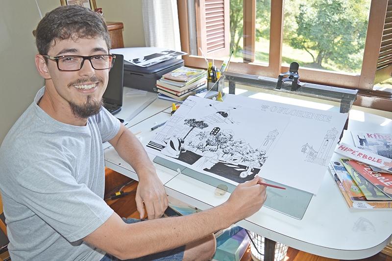 Ilustrador e quadrinista Luan Zuchi projetou uma cena cotidiana no futuro.