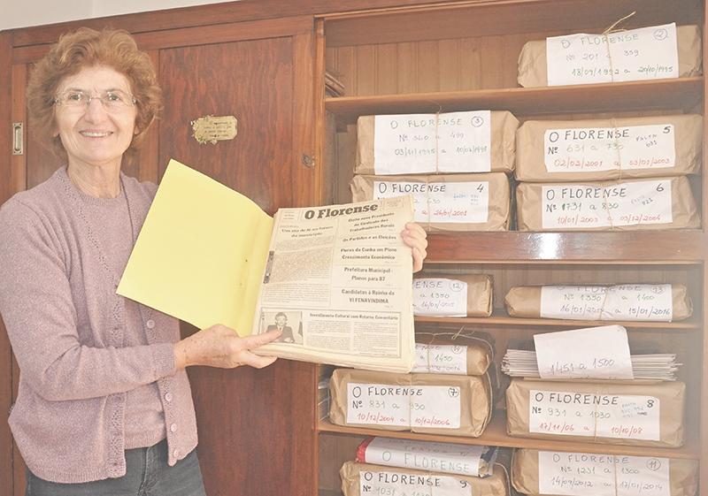 Zaidinha Muterle Zilli, com a edição nº 1, de 4 de outubro de 1986: hoje ela receberá a edição 1.500.