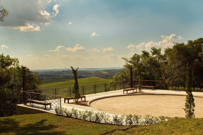 Mirante Arezzo conta com uma bela vista.