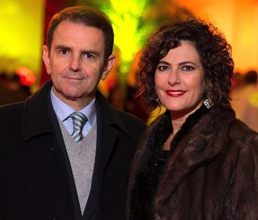 O casal Gelson e Roberta Muraro Castellan