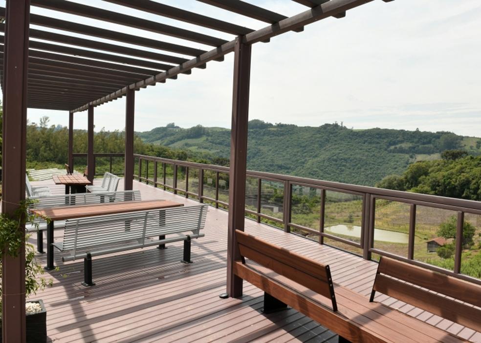 Nova deck possibilita ver a paisagem do Belvedere Sonda de outros ângulos.