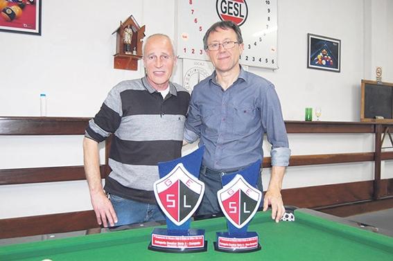 Celso Ortigara e Elto José Veadrigo decidiram o título categoria Snooker.