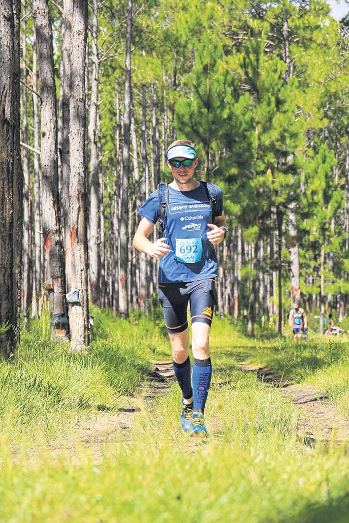 Lauri Kamchen participou da abertura do Circuito Trilhas e Montanhas 2021.