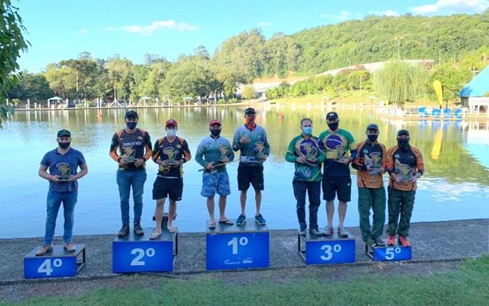 Vencedores do Circuito Sesc Pesca Esportiva.