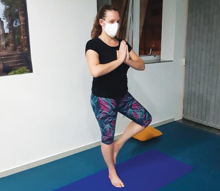 Rafaela Trentin Zampieri afirma sentir muita paz com a prática.