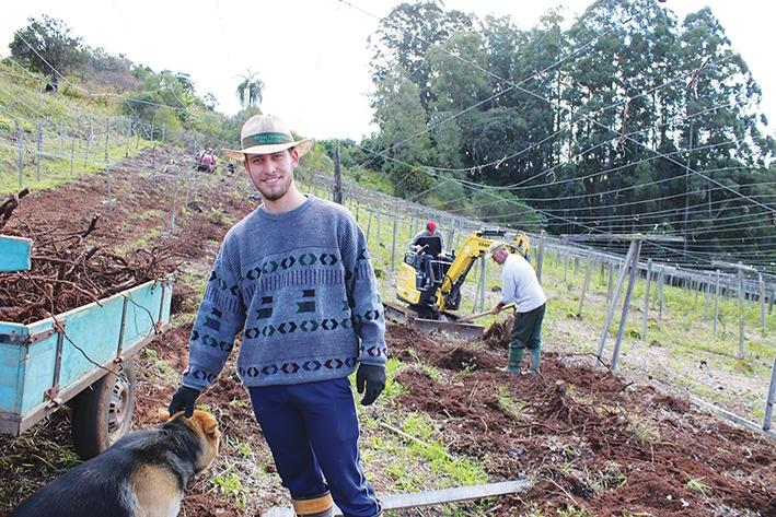 Rodrigo Rossi, 20 anos, vê com bons olhos o novo incentivo aos agricultores.
