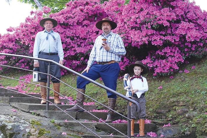 Na residência de Éverton Scarmin, em São Gotardo, a tradição gaúcha faz parte do cotidiano da família.