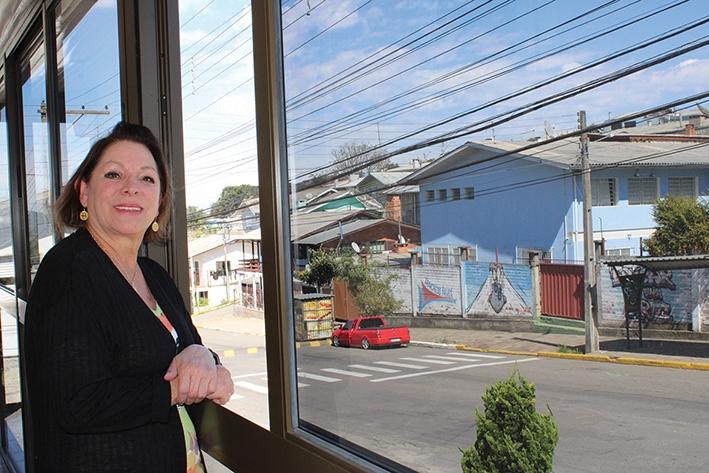 Noelma Inglês Facchin tem muito orgulho de morar no bairro União.