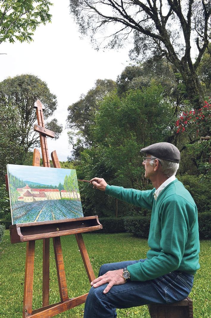 Geraldo Casagrande se dedica a arte inspirada na França.